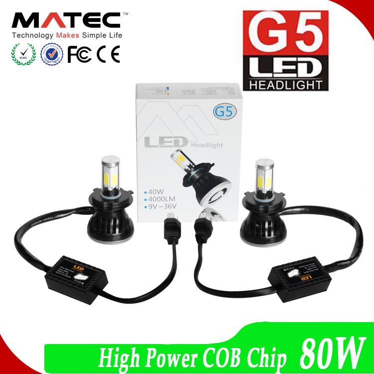 High Power COB Chip LED Headlight 80W 8000lm LED Motorcycle Head Light