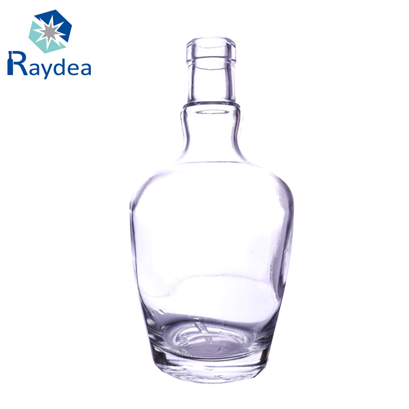 500ml Clear Round Frosted Vodka Glass Bottle
