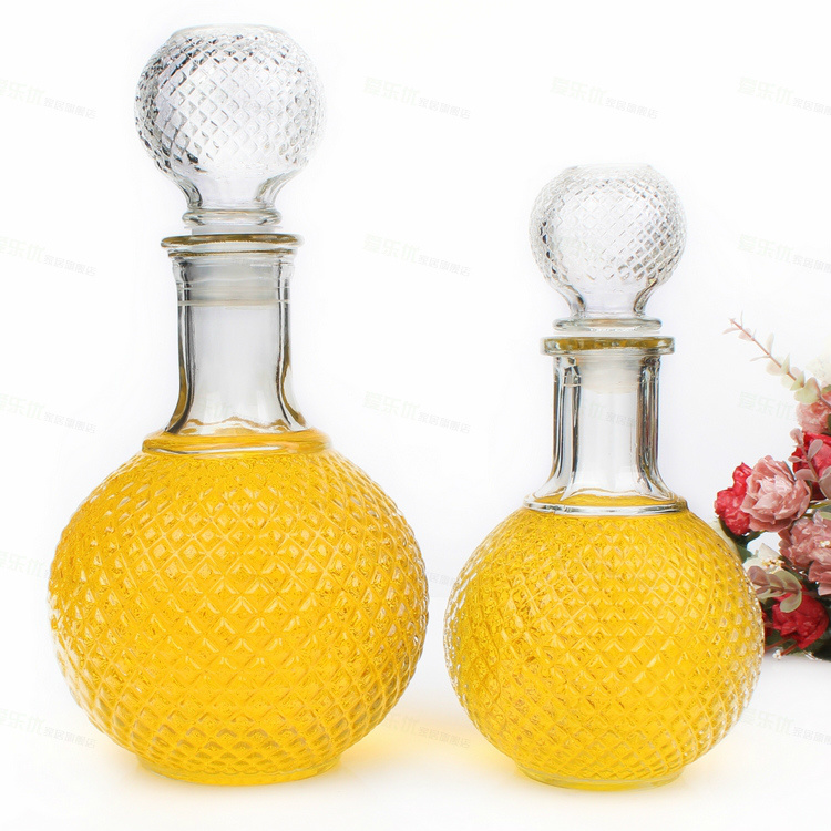 750ml 1000ml Glass Wine Bottle Crystal Glass Bottle for Spirits, Whiskey, Liquor