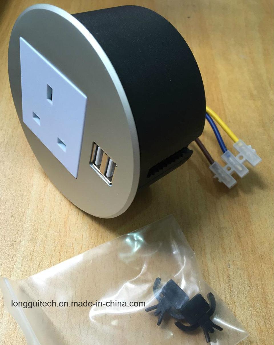 Round Socket Desktop Socket with USB Charger Lgt-810