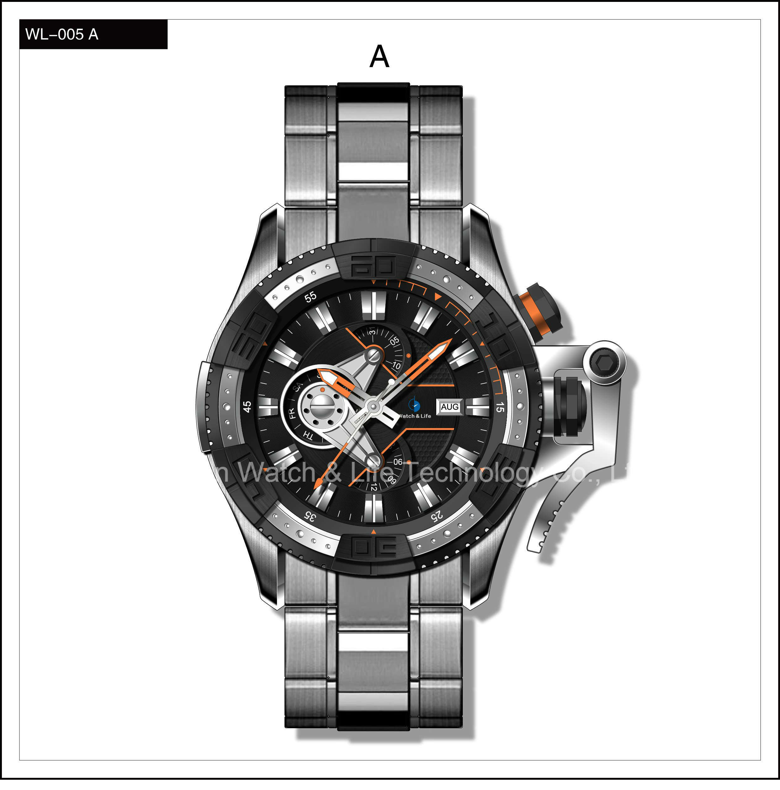 Mechanical Speical Fashion Sport Swiss Watch Stainless Steel Men′s Wrist Watch