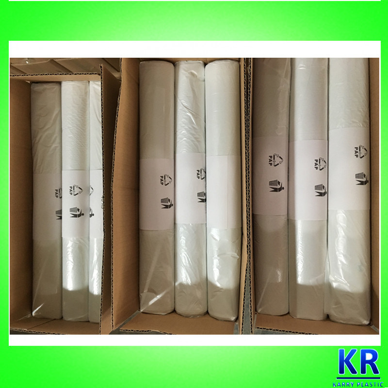 HDPE Strong White Flat Bags Plastic Trash Bags