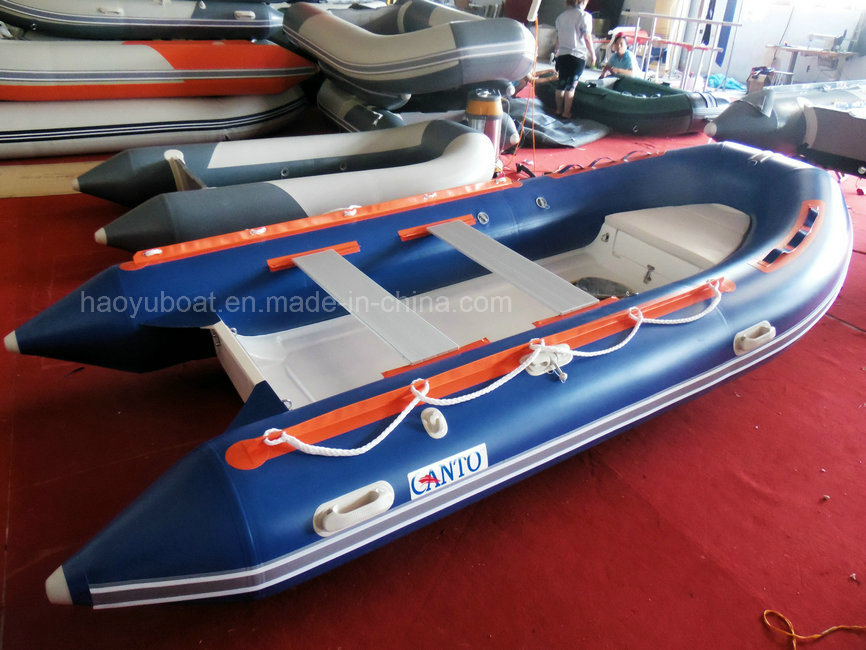 2015 New Model 3.9m Rigid Inflatable Boat Rib390b Rubber Boat Hypalon with CE Fishing Boat