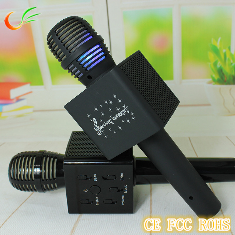 Q7 Bluetooth Wireless Mini Microphone for Handhold Karaoke Player