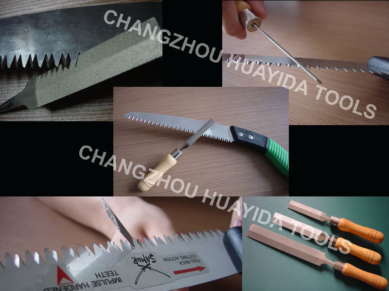 Wood Handle Diamond Lozenge File for Saw Knife