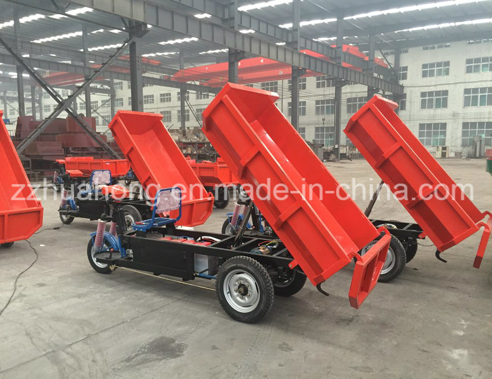 Electric Mining Dumper Tricycle, Three Wheels Tricycle, 1 Ton Electric Tipper Truck