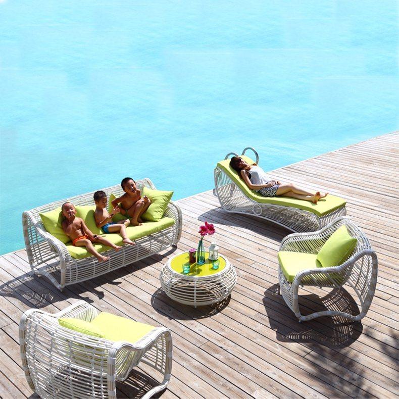 Chinese PE Outdoor Sofa Rattan/ Wicker Sofa Garden Set S309