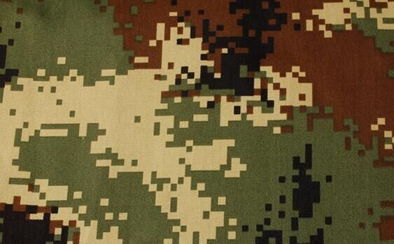 Camouflage Fabric of 100% Polyester Oxford with White Coated