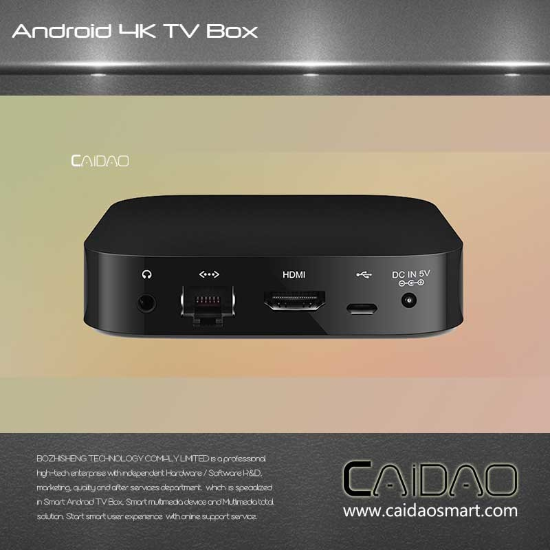 Smart TV Box Based on Arm Cortex A53 64bit Processor. 1GB+8GB Quad Core Tvbox Customization