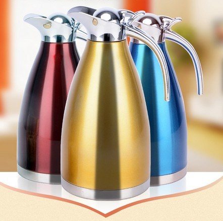 2000ml 18-8stainless Steel Vacuum Kettle with Steel Cover (WSB-003)