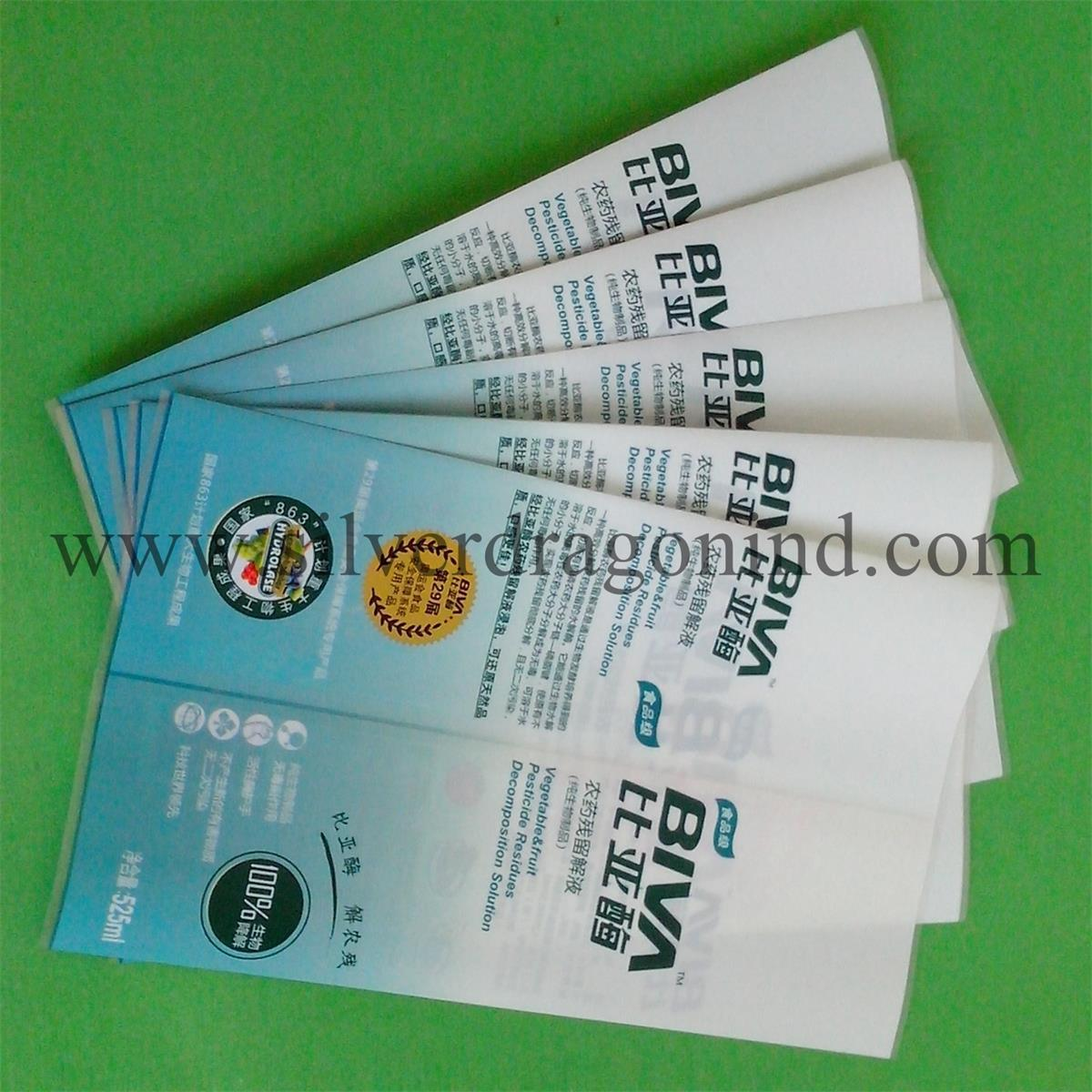 PVC Heat Shrinkable Sleeves for Bottle Label