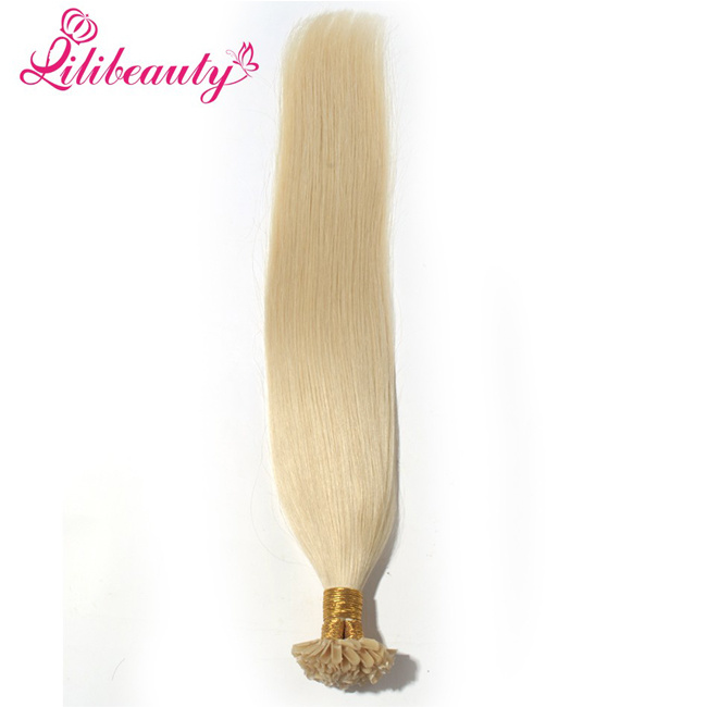 Brazilian Remy Blonde Virgin Hair U Tip Human Hair Extensions