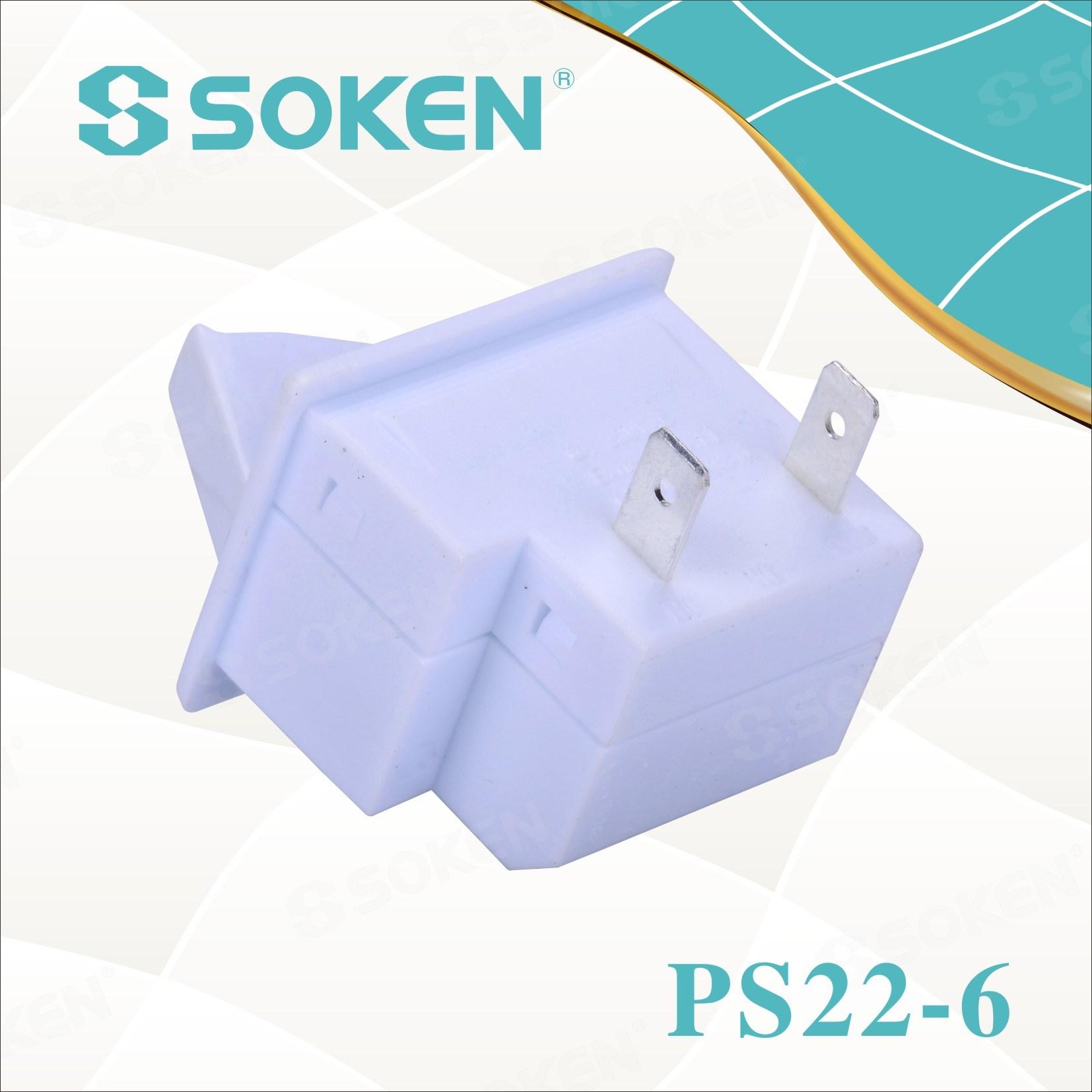 Soken Refrigerator Door Lamp Push Button Switch PS22-6