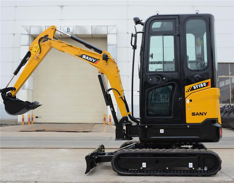 Sany Sy16c 1.6 Ton Hydraulic Earth Mover Mini Excavator