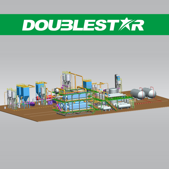Continuous Waste Tire Plastic Pyrolysis Plant