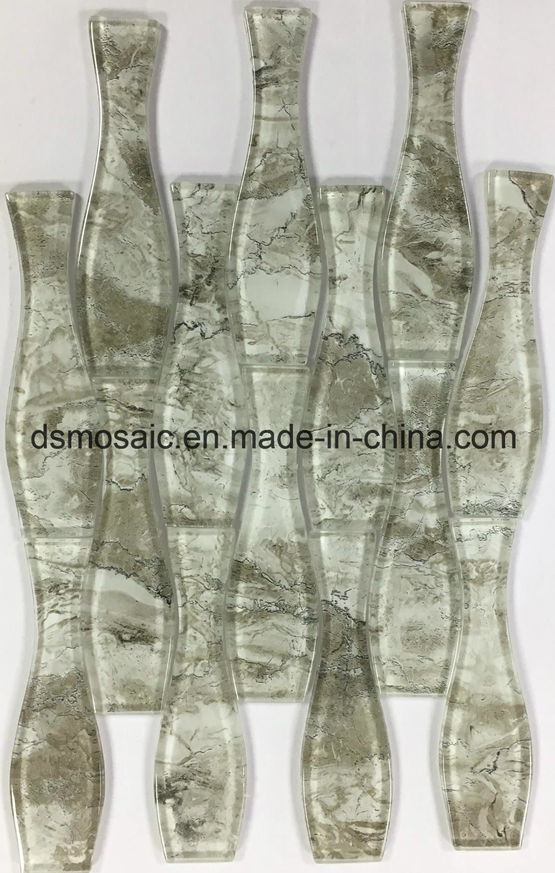 New Stone Pattern Art Laminated Glass Mosaic Tile for Wall