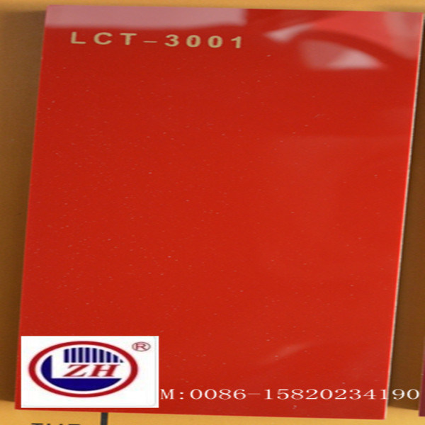Pure Red Scratch Resistant Lct MDF Board (ZH-3001)