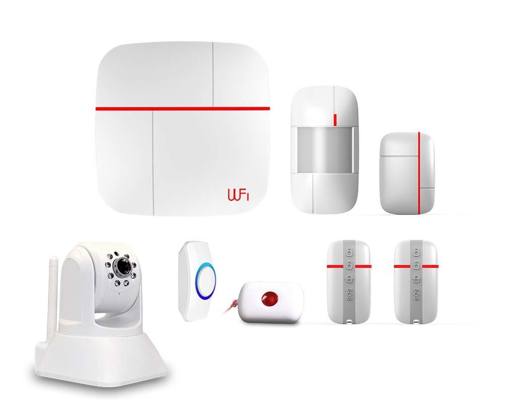 Smart GSM WiFi Alarm System with Camera Optional (ES-VCARE-B)