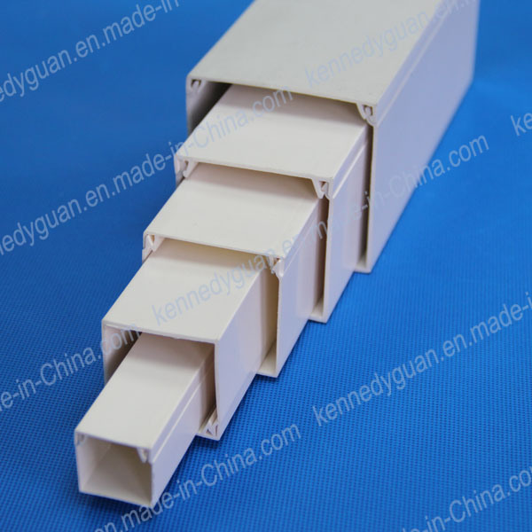 China electrical wiring duct pvc trunking size photos