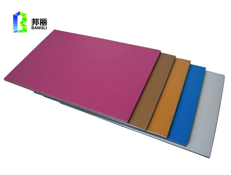 Red Color PVDF Mirror Anodized Aluminum Sheet Solid Aluminum