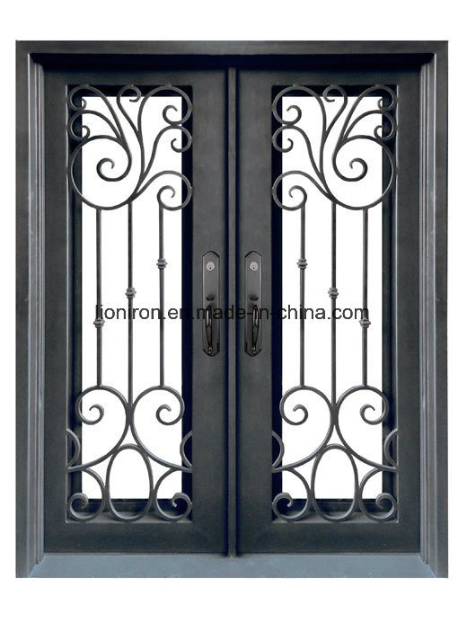 Steel Door with Tempered Glass and Screen