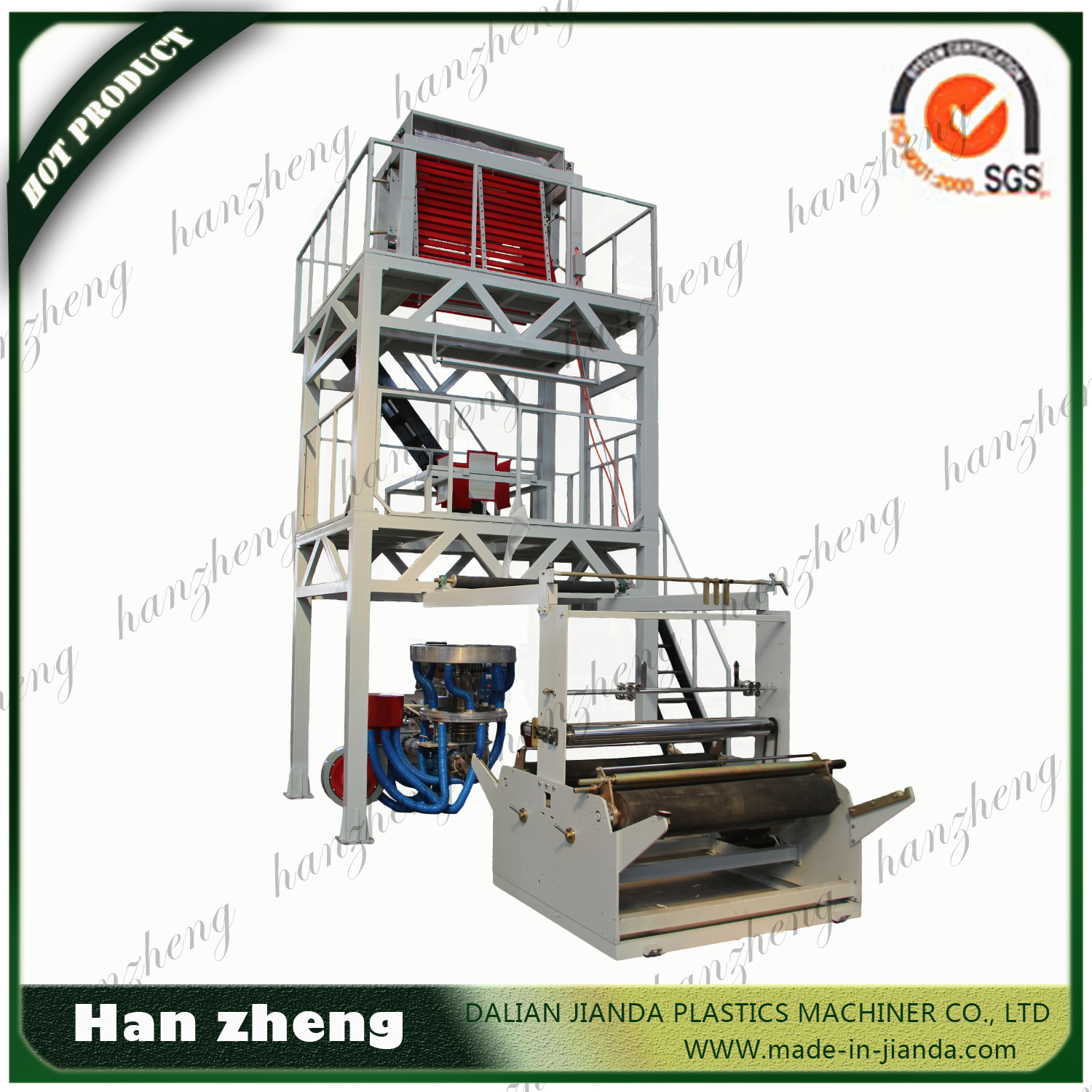 Sjm 55-1600 Single Screw PE Film Blowing Machine with Double Winder
