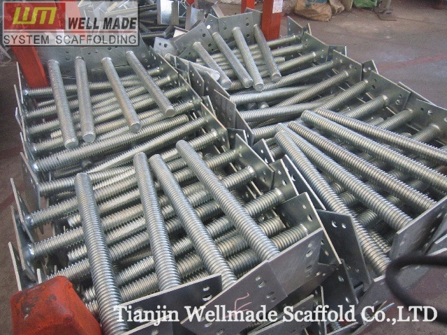 Scaffolding Universal Jack : China heavy shoring system scaffolding adjustable base