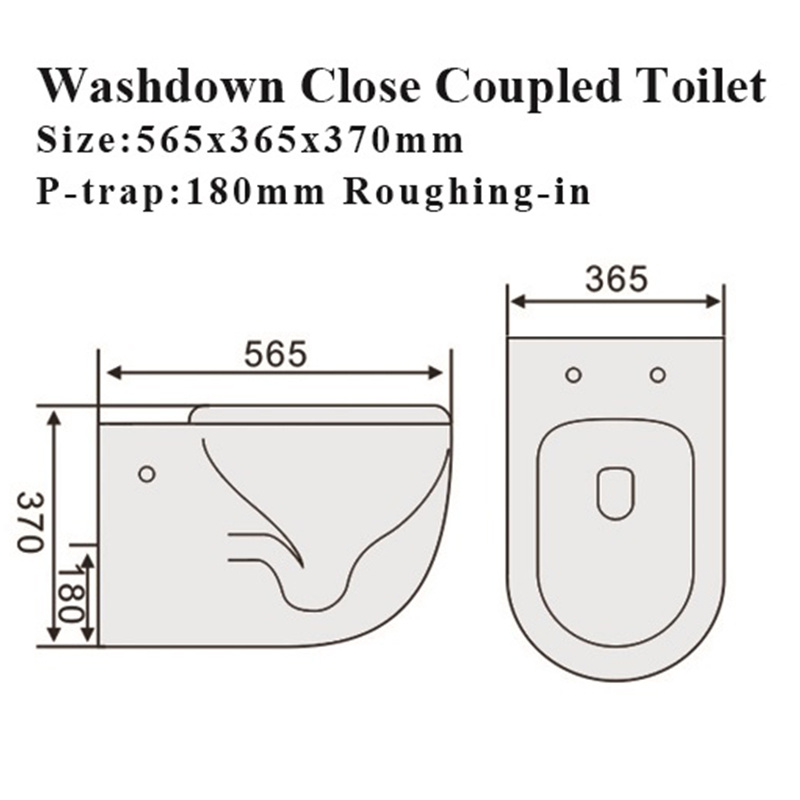 Watermark Bathroom Close Stool Sanitary Ware Ceramic Toilet
