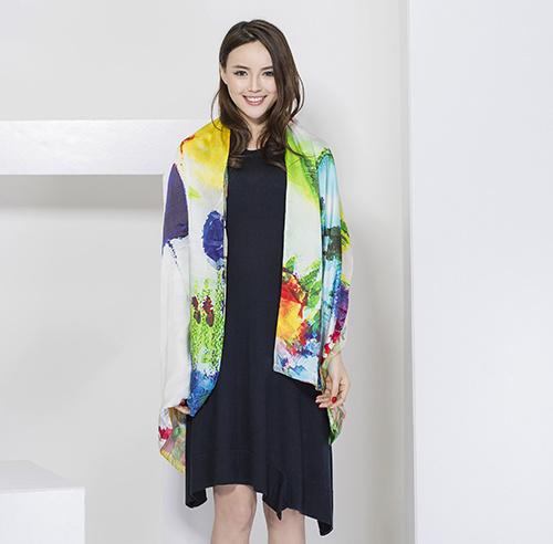 Ladies Fashion Silk Scarf, Digital Print Scarf