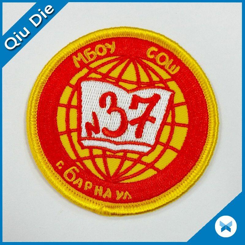No Minimum Iron/Velcro-on Backing 100%/75% Embroidery Patch/Badge