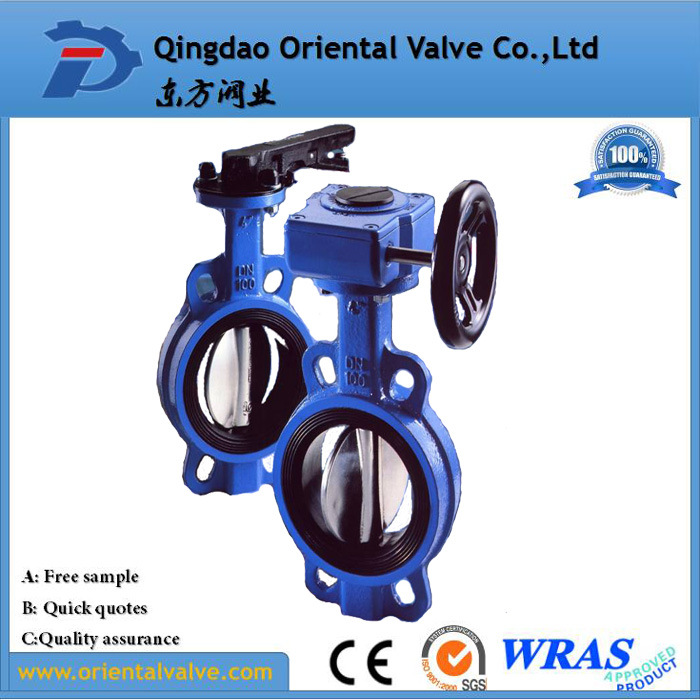 Pn10, Pn16 High Quality Wafer Connection Pneumatic Butterfly Valve
