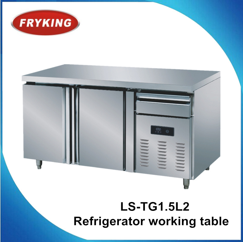 2 Doors Factory in Guangzhou Kitchen Electronic Commercial Refrigerator