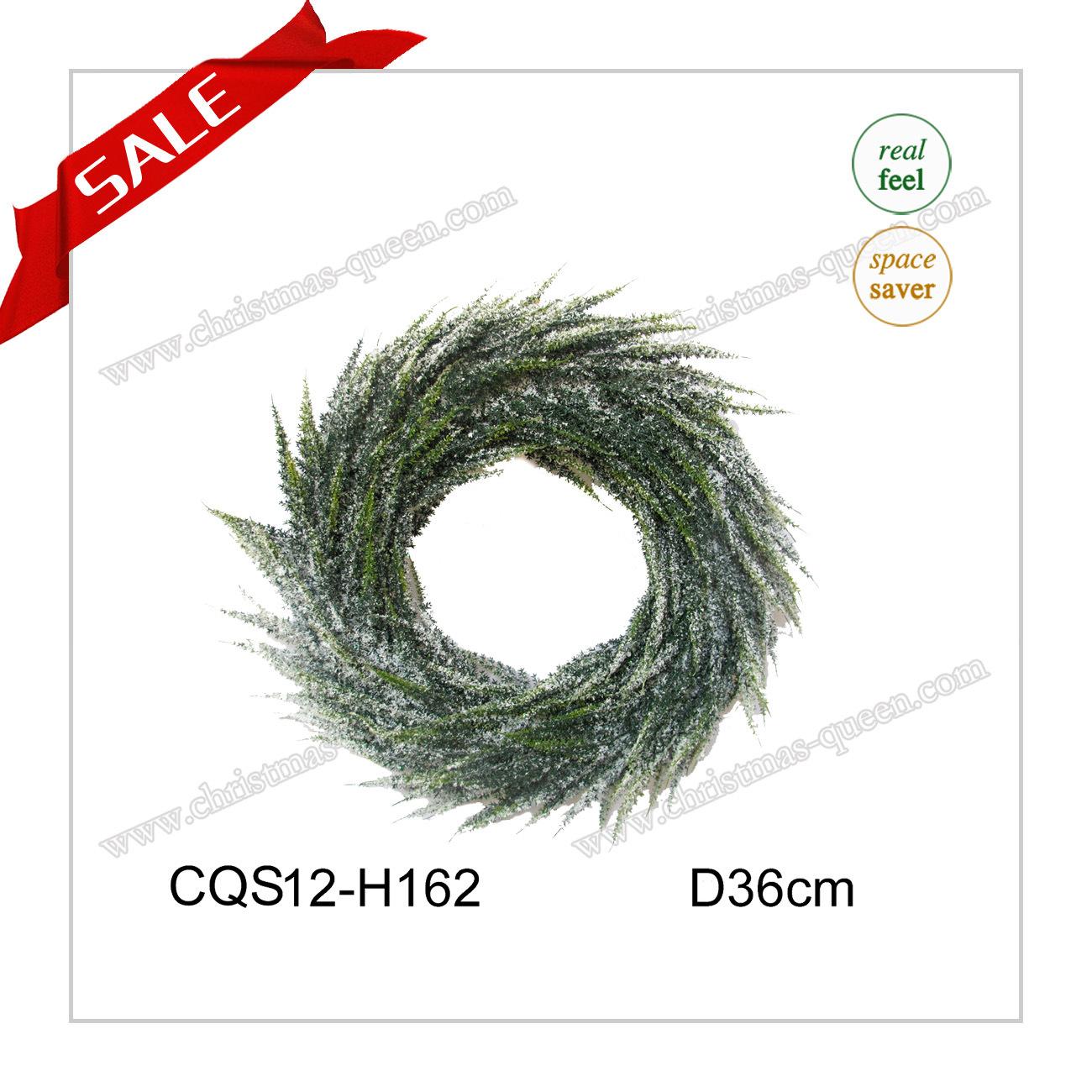 D22cm Wall Art Plastic Christmas Wreath Artificial Flower Craft