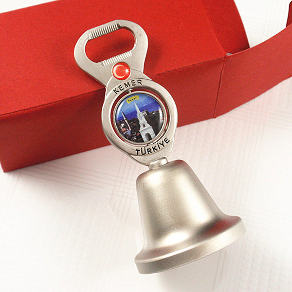 Souvenirs- Promotional Rotating Metal Table Bell Bottle Opener Gift
