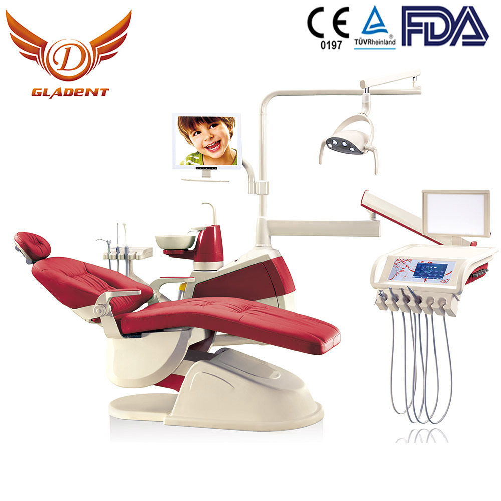 New Design Ce & FDA Approved LED Sensor Lamp Ergonomic Patient Colorful Dental Chair