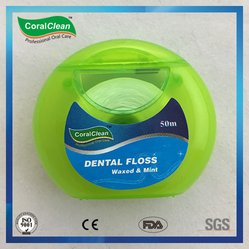 Round Shape Case Expanding Floss Dental Floss Waxed