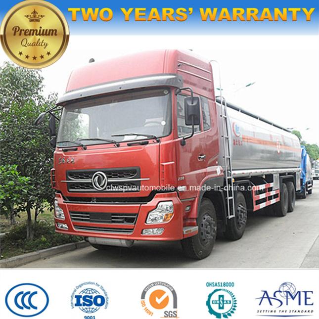 8X4 LHD 30000 Liters Steel Fuel Truck 30 Tons Oil Tank Truck