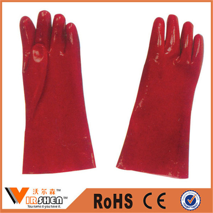 Industrial PVC Coated Working Safety Dipped Rubber Gloves