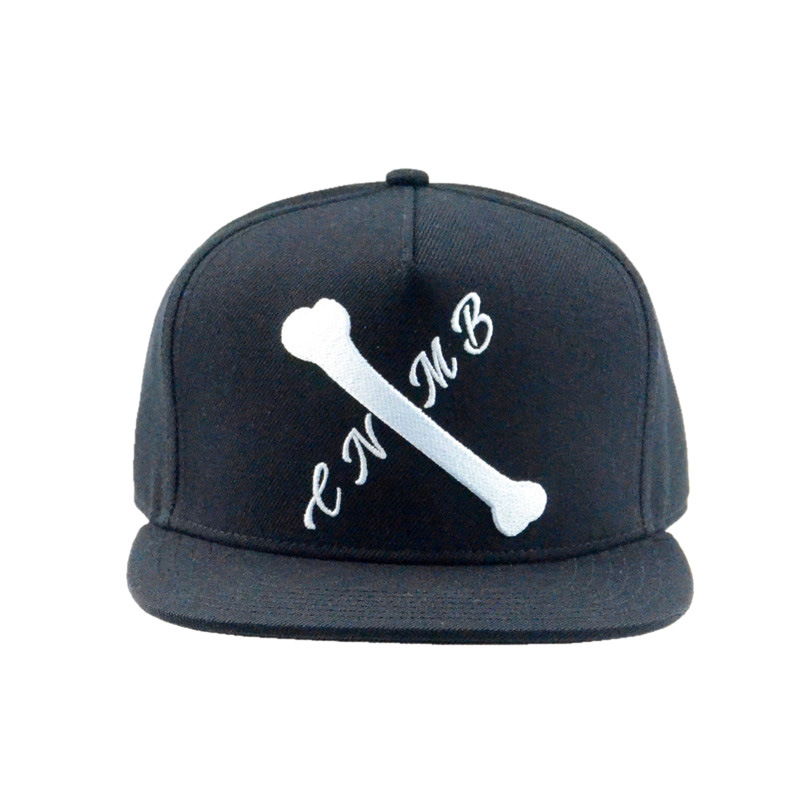 5 Panels Acrylic Flat Brim Snapback Caps and Hats Manufacturer