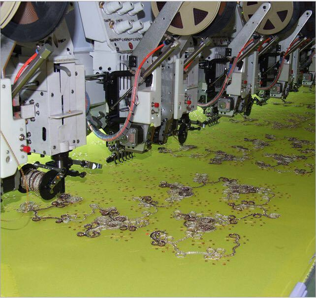 15head 6 Colors Coiling and Sequin Embroidery Machine