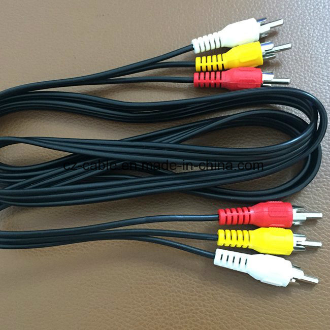 RCA Cable, 3RCA to 3RCA (3r-3r) , Male to Male Cable, AV Cable
