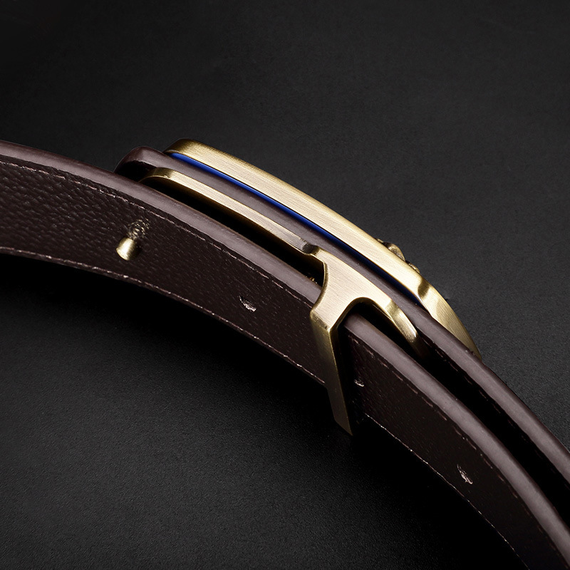 Luxury Men Smart Leather Belt Phone Anti-Lost Smart Bracelet