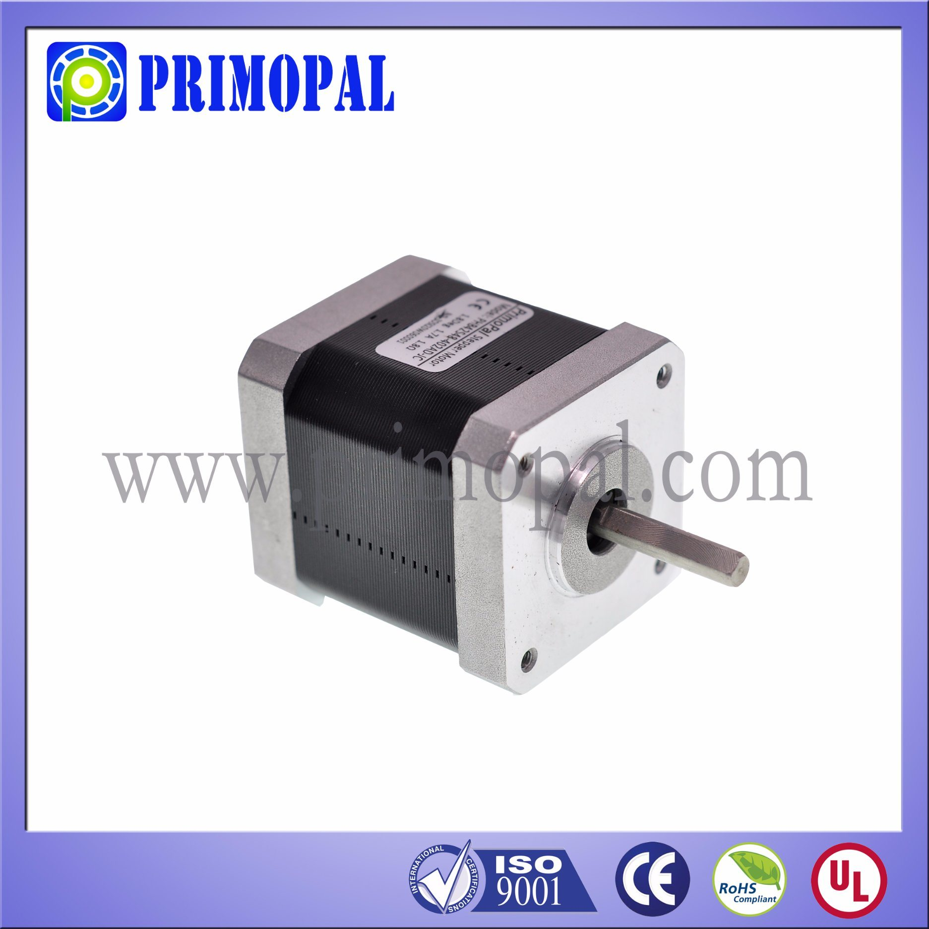 RoHS Approved NEMA 17 Stepper Motor with High Quality