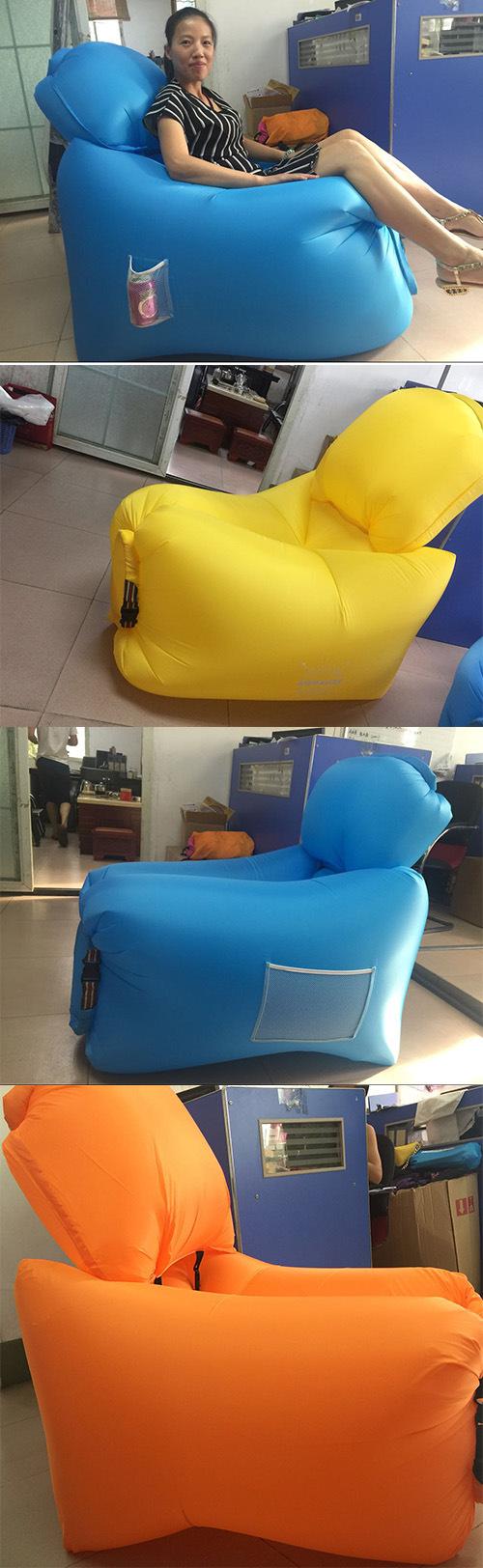 Lamzac Hangout Kaisr Inflated Sleeping Bag Air Lounge Beach Bed Sleeping Bed Lamzac Hangout