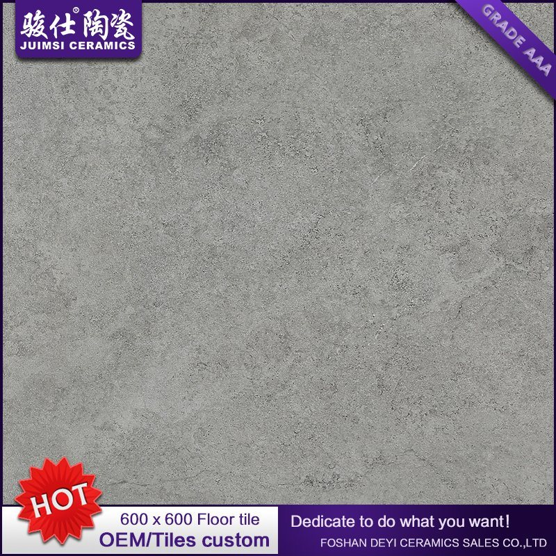 Foshan Juimsi New Design Rustic Tile Grey Ceramic Floortile 600X600mm