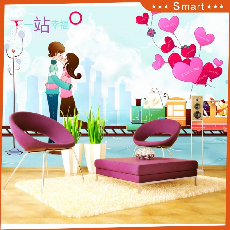 Next Station Happiness Wallpaper for Home Decoration Oil Painting