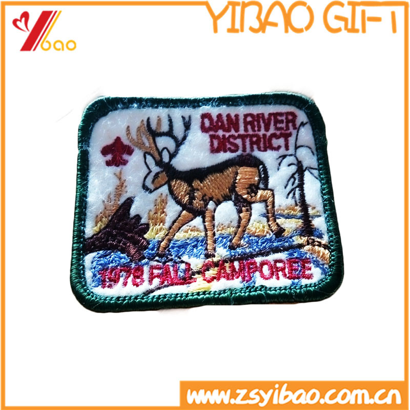 Custom Animal Embroidery Badge, Embroidery Patches, with Woven Label (YB-Embroidery 409)
