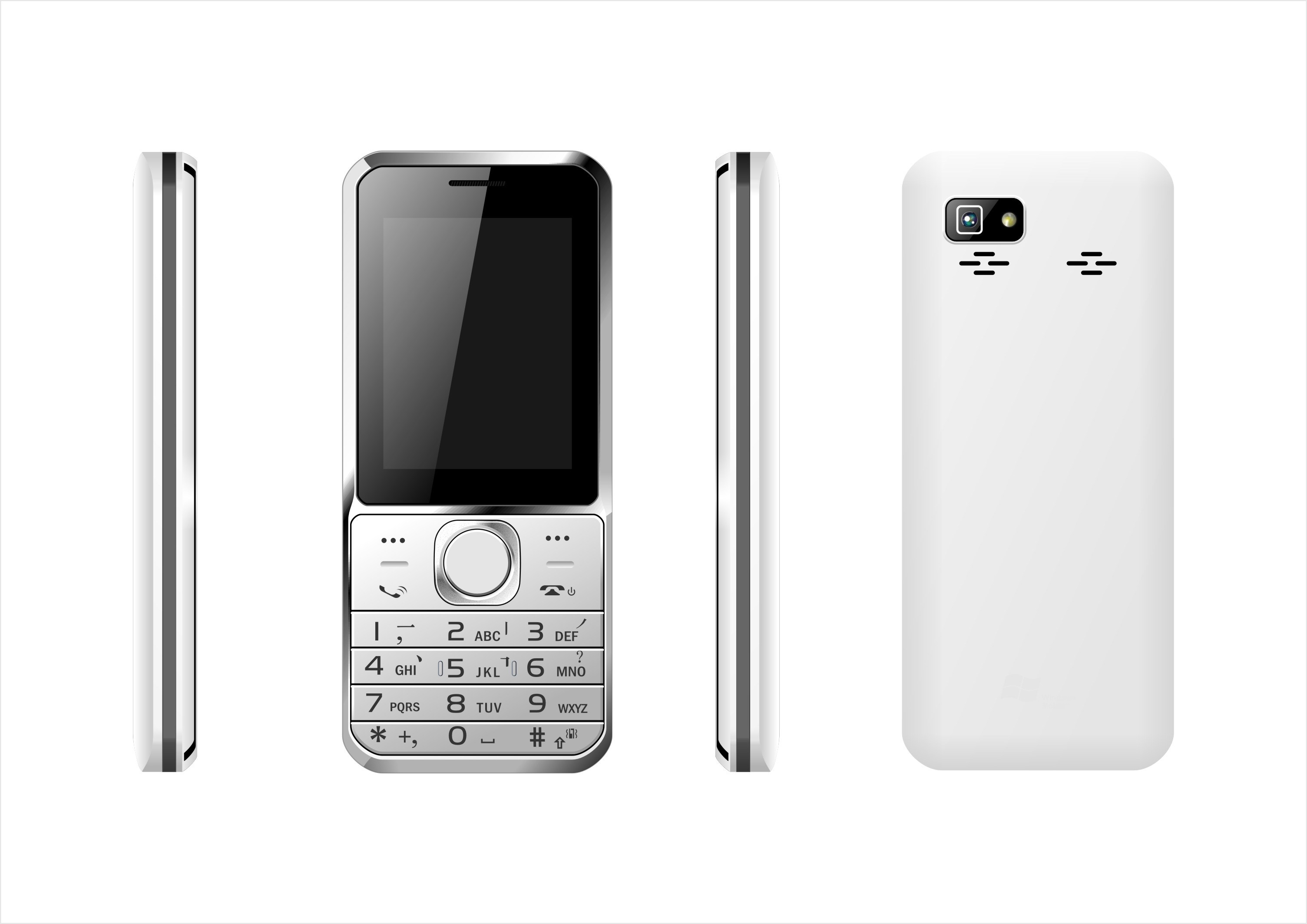 Factory Direct Wholesale Original Unlock 2.4inch Dual SIM Feature Phone From China Supplier C25