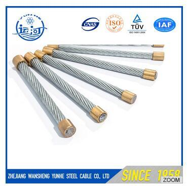 Galvanized Steel Strand Steel Wire Rope Steel Guy Wire 5/16′′ ASTM H 475 Ehs