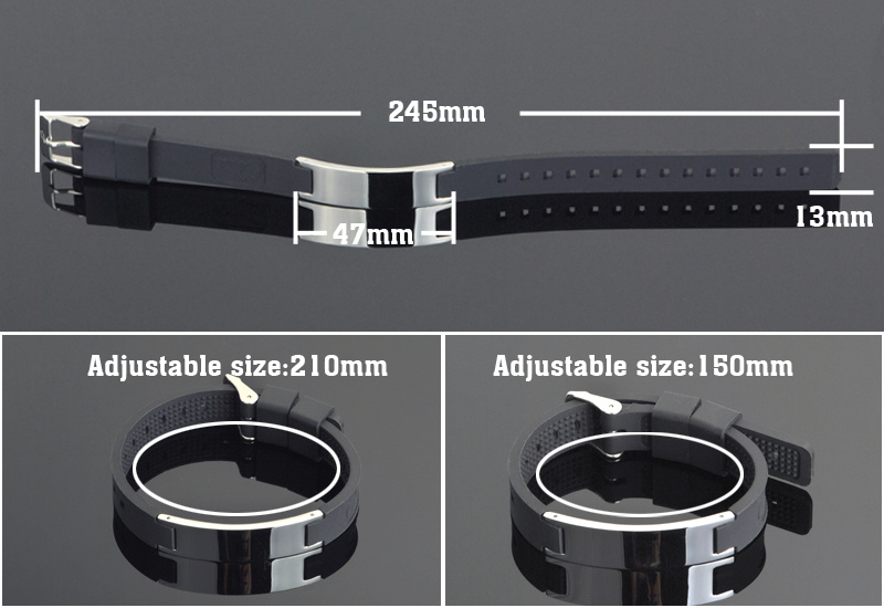 Fashion Energy Silicone Bracelet for Gift with Health Function (20001)